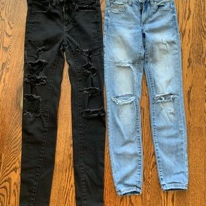 Girl's/woman's size 00 ripped jeans